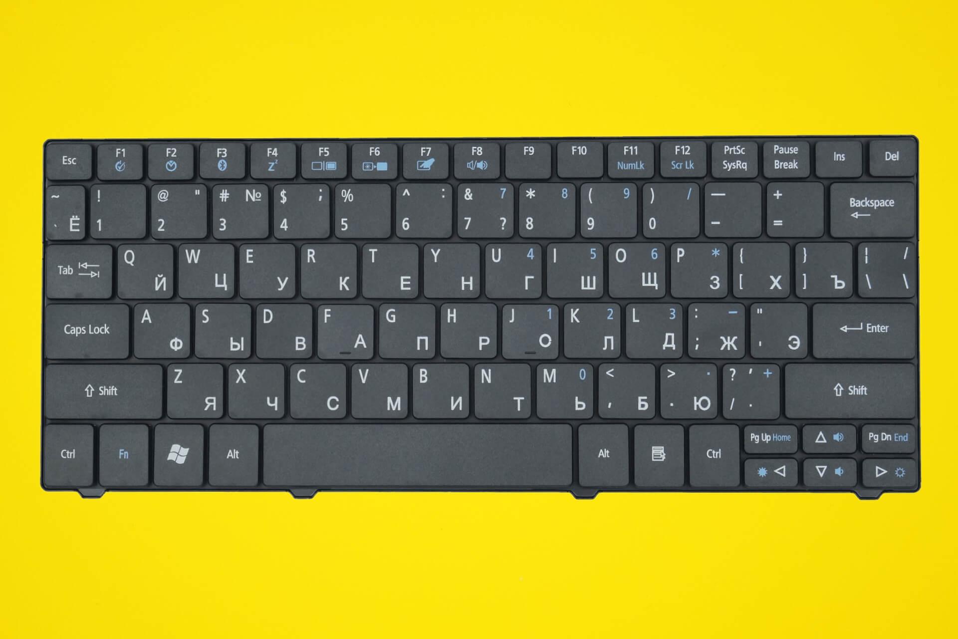 Русская клавиатура картинка на ноутбуке