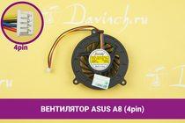 Вентилятор (кулер) для ноутбука Asus A8 (4pin) | 049195