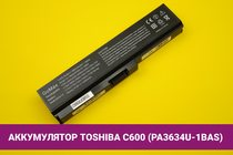Аккумулятор (батарея) для ноутбука Toshiba C600 (PA3634U-1BAS) 4400mAh 48Wh 10.8V | 020031