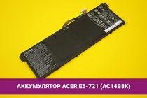 Аккумулятор (батарея) для ноутбука Acer E5-721 (AC14B8K) 3270mAh 49Wh 15.2V | 020067