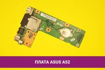 Плата кнопки включения, разъем питания, LAN, Cardreaderb и USB для ноутбука Asus A52   108019dclpcu