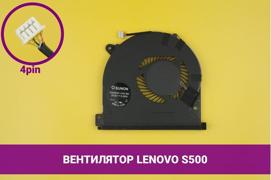 Вентилятор (кулер) для ноутбука Lenovo IdeaPad S500   040208