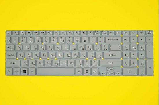 Клавиатура для ноутбука Packard Bell Easynote TV11CM белая | 010017W